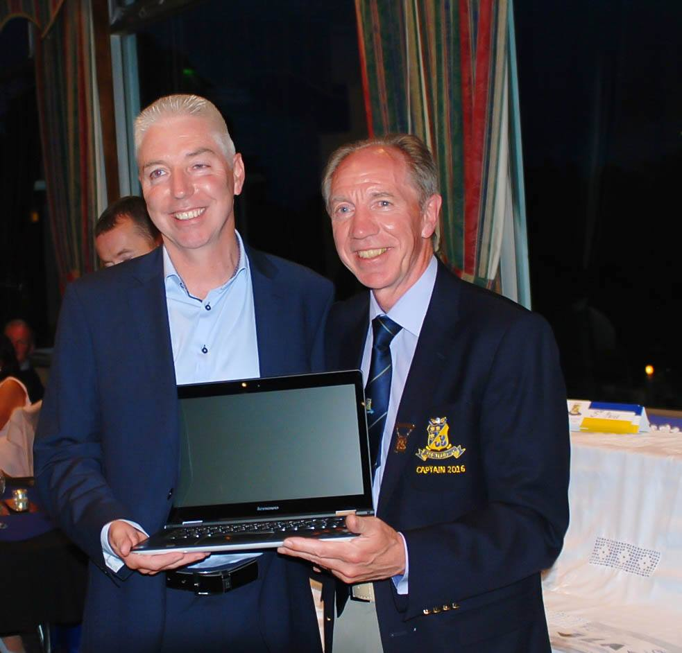 Michael Donnelly Winner of the Captain's ( Vincent Collier) Prize 2016