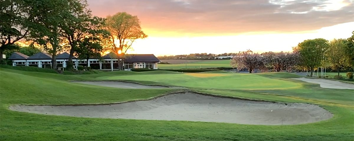 Sunset over 18th Green & Clubhouse